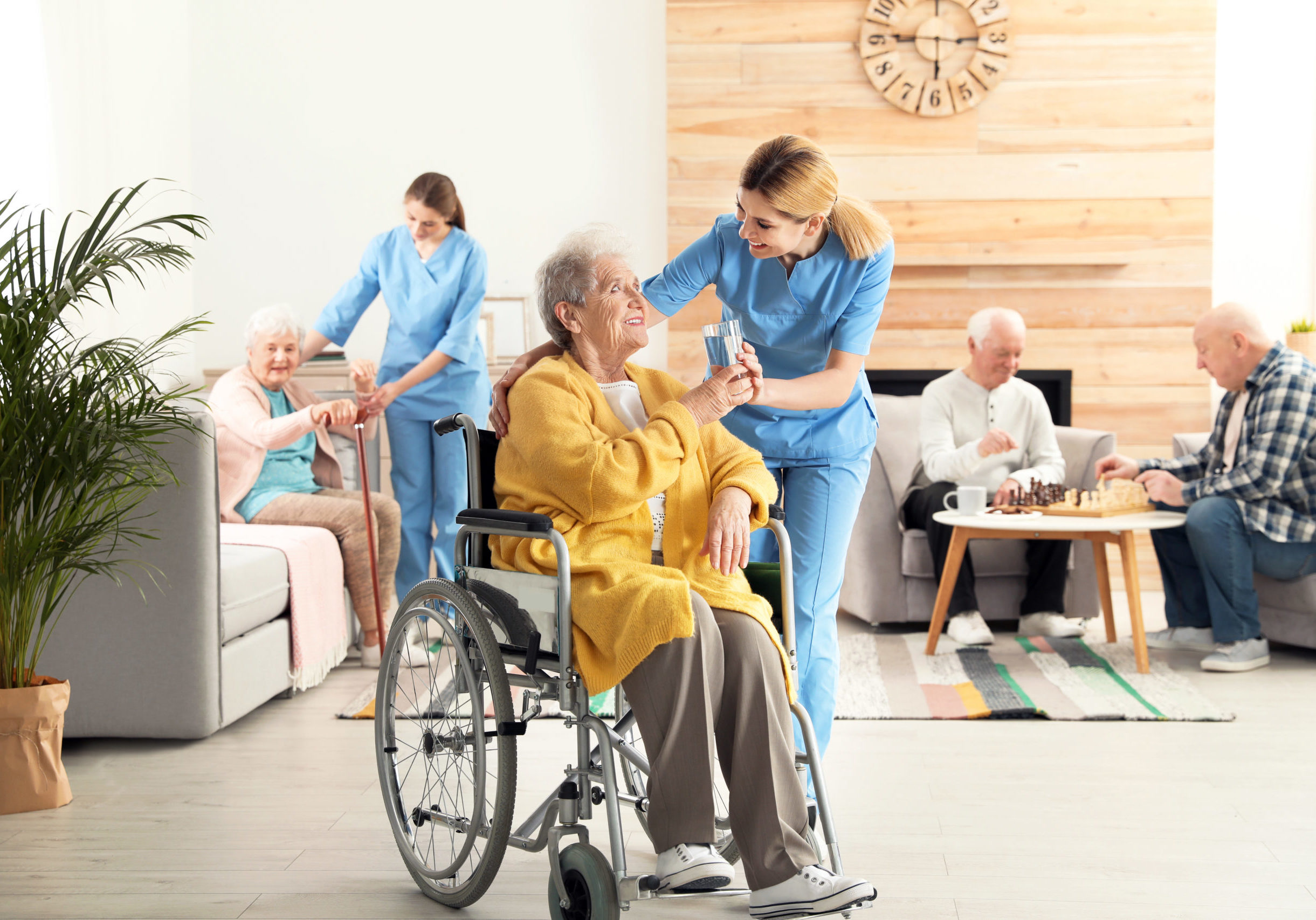 nurse and residents